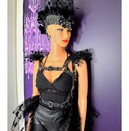 H308,Set of 2 Designer Edition Harness Leather Woman ,Epaulettes