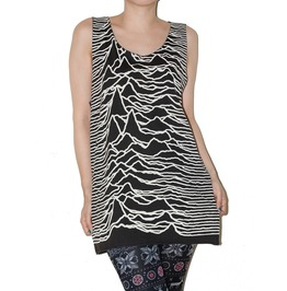 Joy Division Unknown Pleasures Black Tank Top Size M