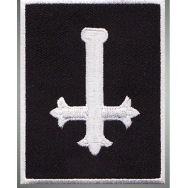 Inverted Cross Embroidered Patch, 4 X 3,2 Inch