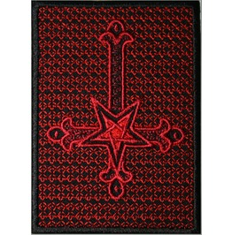 Inverted Cross 2, Pagan Embroidered Patch, 4 X 2,8 Inch