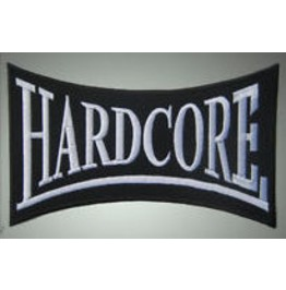Hardcore Embroidered Patch, 4,8 X 8 Inch