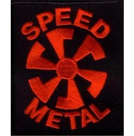 Speed Metal Embroidered Patch, 4 X 2,8 Inch