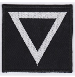 Triangle Point Embroidered Patch, 3,2 X 3,2 Inch