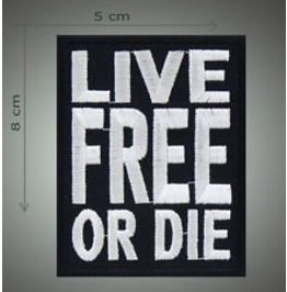 Live Die Embroidered Patch, 3,2 X 2 Inch