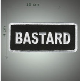 Bastard Embroidered Patch, 1,6 X 4 Inch
