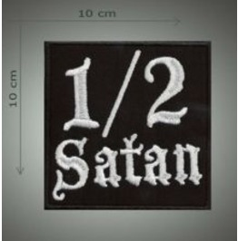 1/2 Satan Embroidered Patch, 4 X 4 Inch
