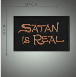 Satan Real Embroidered Patch, 2,4 X 4 Inch