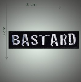 Bastard 2 Embroidered Patch, 1,2 X 3,2 Inch