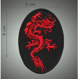 Dragon Embroidered Patch, 3,2 X 2 Inch