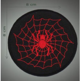Spider Net Embroidered Patch, Diameter 3,2 Inch