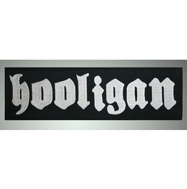 Hooligan Embroidered Patch, 3,6 X 15,4 Inch