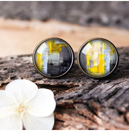 Hand Painted Abstract Earrings