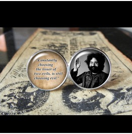 Jerry Garcia Quote Cuff Links Men, Wedding
