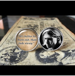 Kurt Cobain Quote Cuff Links Men, Weddings,Groomsmen