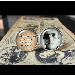 Hunter S. Thompson Quote Cuff Links Men, Wedding,Groom