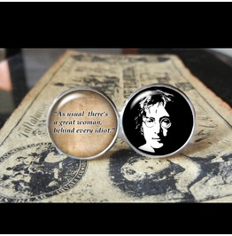 John Lennon Quote Cuff Links Men, Weddings,Groomsmen