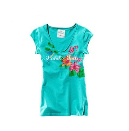 Floral Print Women Fashion T Shirt Tops