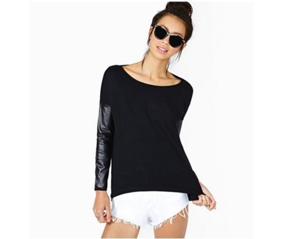 pu_spliced_women_fashion_shirt_tops_long_sleeved_shirts_3.jpg