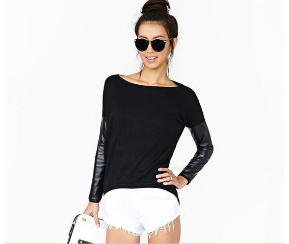 pu_spliced_women_fashion_shirt_tops_long_sleeved_shirts_2.jpg