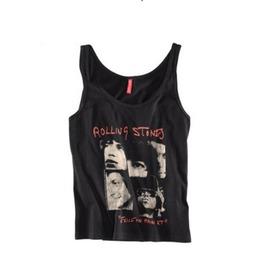 Rolling Stone Print Women Fashion Tank Tops