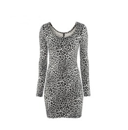 Leopard Pattern Women Fashion Dress