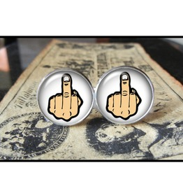 Middle Finger Cuff Links Men, Wedding,Groomsmen,Groom