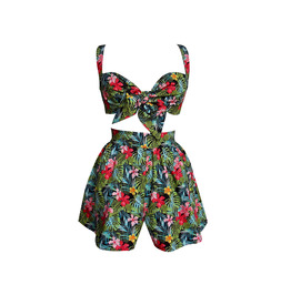 Tropical Pin Up Two Piece Set