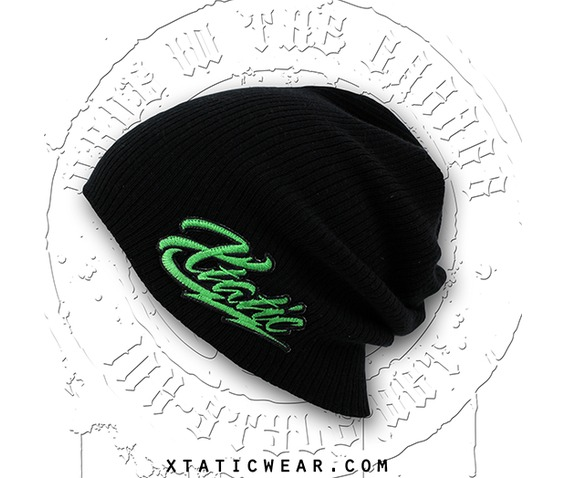 xtatic_wear_beanie_green_logo_hats_caps_2.jpg