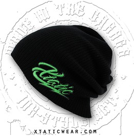 Xtatic Wear Beanie Green Logo