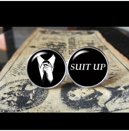 Suit Quote #2 Cuff Links Men,Wedding,Groomsmen,Gift
