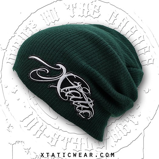 xtatic_wear_beanie_green_chicano_lettering_hats_caps_2.jpg