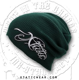 Xtatic Wear Beanie Green Chicano Lettering
