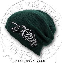 Xtatic Wear Beanie Green Chicano Lettering
