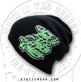 Xtatic Wear Beanie Ink Crime Green Patch