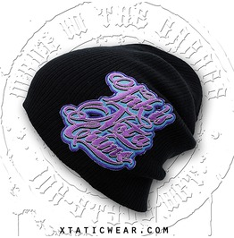 Xtatic Wear Beanie Ink Crime Purple Patch