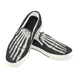 Elliz Skeleton Foot Unisex Slip On Skater Sneakers Skateboarding Shoes