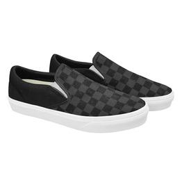 Elliz Grungy Checkers Classic Slip-On Skateboarding Sneakers