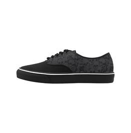 Elliz Skulls Pattern Gothic Grey/Black Classic Low Top Skateboarding Shoes