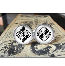 Ambigram Cuff Links Men,Wedding,Groomsmen,Groom,Gifts
