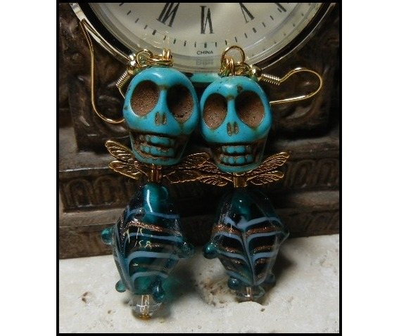 ooak_turquoise_glass_fish_body_skull_earrings_earrings_2.JPG