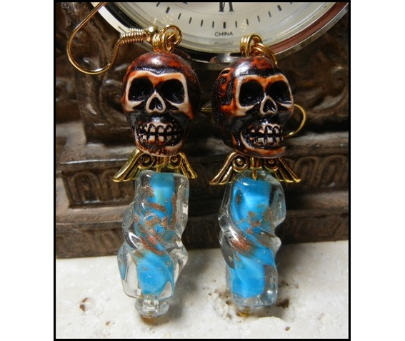ooak_turquoise_twisted_glass_angel_skull_earrings_earrings_2.JPG