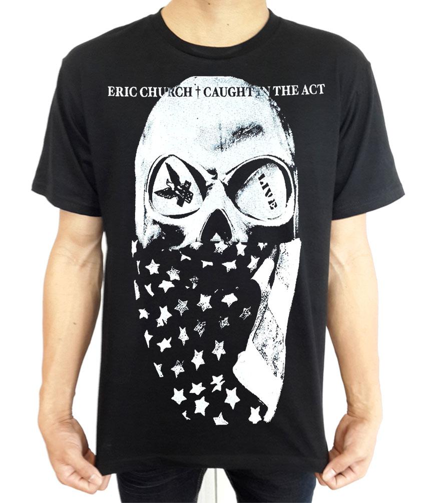 Eric church skull logo country rock music band t shirt tees