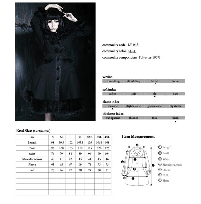 Rebelsmarket womens lolita hooded bowknot overcoat black coats 11