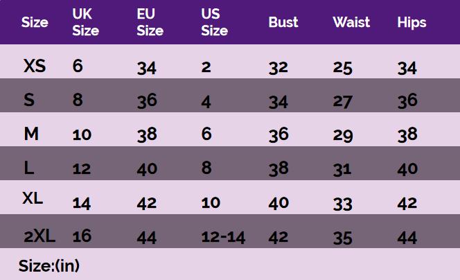 Jawbreaker   womens size chart