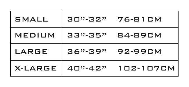 Size chart 2016