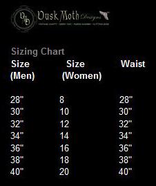 Dusk moth pants  chart
