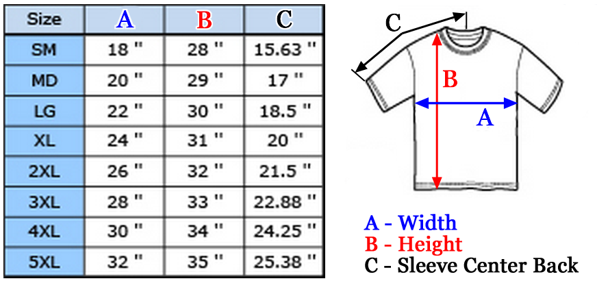 Anvil   gildan t shirt sizing chart (s 4xl)