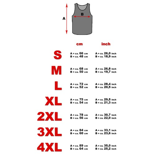 Tank top model a sizes   new