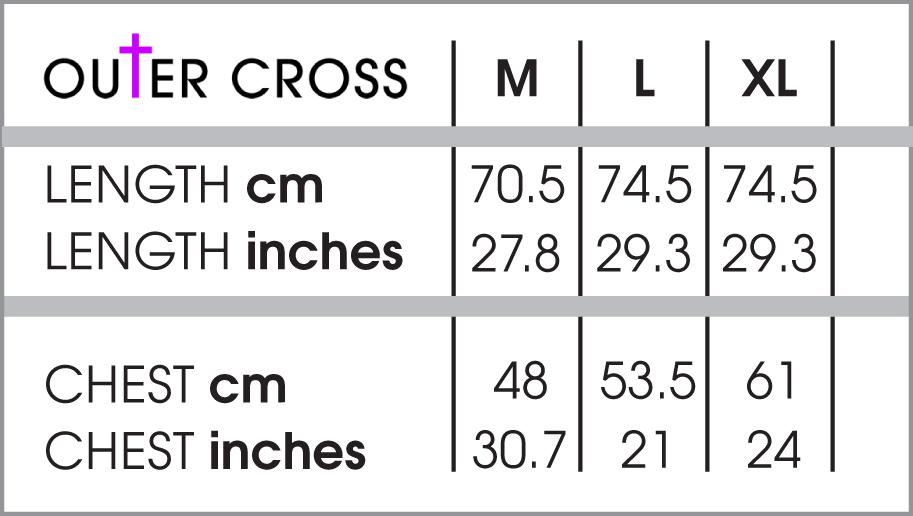Mens t shirt size chart