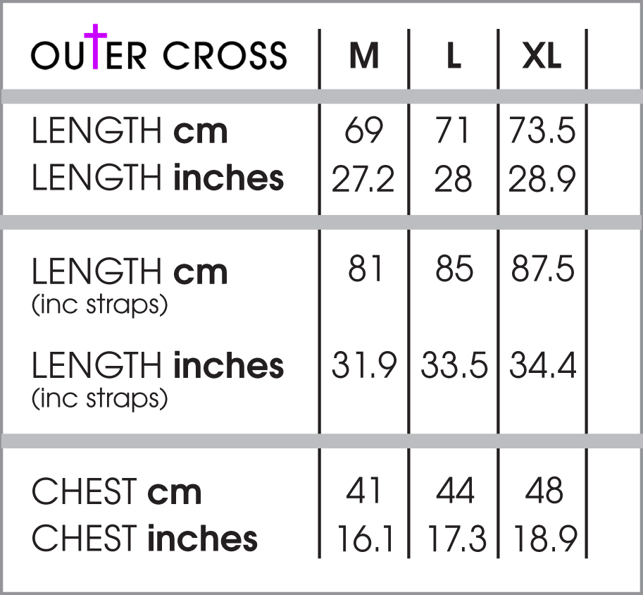 Dress t shirt size chart